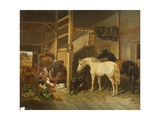 A Stable Interior Giclee Print by Joseph Clark