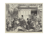 Fetching Home the Christmas Dinner Giclee Print by John Leech