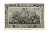 Fight Between the Armada and the English Fleet Off the Isle of Wight, 1739 Giclee Print by John Pine