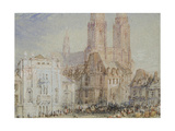 Orléans, C. 1830 (Watercolour and Bodycolour with Pen and Red, Brown and Black Ink) Giclee Print by Joseph Mallord William Turner