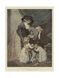 A Christmas Visit to Grandfather Giclee Print by John Raphael Smith