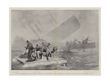 The Foundering of the French Liner La Bourgogne, the Desperate Struggle for Life as the Vessel Sank Giclee Print by Joseph Nash