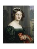 Portrait of Anna Hillmaier, 1829 Giclee Print by Joseph Karl Stieler