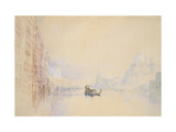 Venice: the Grand Canal, 1840 (Watercolour over Graphite with Bodycolour and Pen and Red Ink) Giclee Print by Joseph Mallord William Turner