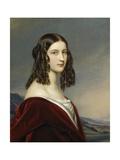 Portrait of Friederike Von Freiin Gumppenberg, 1843 Giclee Print by Joseph Karl Stieler