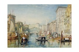 Venice: the Rialto, 1820-21 Giclee Print by Joseph Mallord William Turner