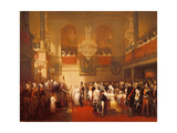 Wedding of Leopold I (1790-1865) to Princess Louise of Orleans (1812-50) at Compiegne Giclee Print by Joseph Desire Court