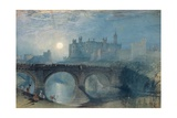 Alnwick Castle, C.1829 Giclee Print by Joseph Mallord William Turner