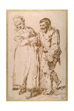 The Steps of an Elderly Peasant Guided by His Wife (Pen and Ink with Chalk on Paper) Giclee Print by Joos Van craesbeeck