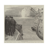 Lord George Hamilton's Reception of Members of Parliament at Portsmouth Dockyard Giclee Print by Joseph Nash