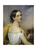 Portrait of Antonia Wallinger, 1840 Giclee Print by Joseph Karl Stieler