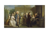 A Family Conversation Piece, C.1730 Giclee Print by Joseph Highmore