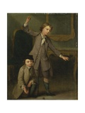 Two Boys of the Nollekens Family, Probably Joseph and John Joseph, Playing at Tops, 1745 Giclee Print by Joseph Francis Nollekens