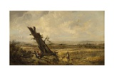 Landscape with Cornfield Giclee Print by John Linnell