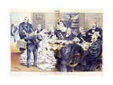 Our Overworked Supreme Court: it Is Unequal to the Ever-Increasing Labor Thrust Upon it - Will Cong Giclee Print by Joseph Keppler