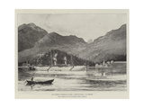 The German Emperor's Yacht Hohenzollern at Bergen Giclee Print by Joseph Holland Tringham