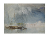 Nantes: Pont Pirmil, C. 1830 (Watercolour with Bodycolour and Pen and Brown Ink) Giclee Print by Joseph Mallord William Turner
