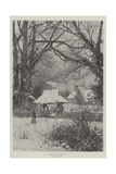 Christmas at the Lych-Gate Giclee Print by Joseph Holland Tringham
