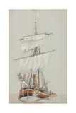 Study of a Sailing Ship Giclee Print by John Wilson Carmichael