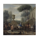 Preparing for the Hunt, C.1740-50 Giclee Print by John Wootton