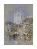 Nantes, 1826 - 1830 (Watercolour with Bodycolour and Pen and Black and Brown Ink) Giclee Print by Joseph Mallord William Turner