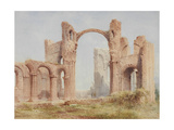 Lindisfarne Priory Ruins Giclee Print by Joseph Ratcliffe Skelton