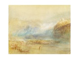 Falls of the Rhine at Schaffhausen, 1841 (W/C, Pen, Red Ink and Grey Wash on White Wove Paper) Giclee Print by Joseph Mallord William Turner