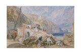 Combe Martin, Devonshire, C.1824 (Watercolour over Graphite with Pen and Black Ink) Giclee Print by Joseph Mallord William Turner