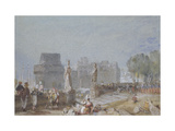 Château De Nantes, C. 1830 (Watercolour and Bodycolour with Pen and Brown and Black Ink) Giclee Print by Joseph Mallord William Turner