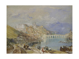 Blois, C. 1830 (Watercolour with Bodycolour and Pen and Brown and Black Ink on Blue Paper) Giclee Print by Joseph Mallord William Turner