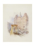 Paris: Hotel De Ville Giclee Print by Joseph Mallord William Turner