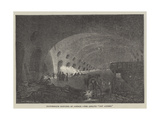 Picturesque Sketches of London, the Adelphi Dry Arches Giclee Print by John Wykeham Archer