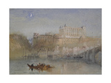 The Bridge and Château at Amboise Giclee Print by Joseph Mallord William Turner