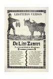 Legítimos Versos De Lino Zamora Traidos Del Real De Zacatecas, Published 1903 Giclee Print by Jose Guadalupe Posada