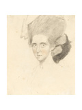 The Countess of Strathmore, 1781 (Pencil with Black and Red Chalks on Paper) Giclee Print by John Downman