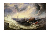 Seascape with Wreckage Giclee Print by John Wilson Carmichael