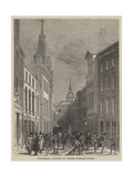 Picturesque Sketches of London, Lombard-Street Giclee Print by John Wykeham Archer