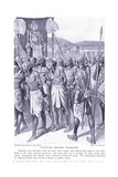 Captives before Pharaoh, C.1920 Giclee Print by Joseph Ratcliffe Skelton