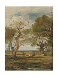 Landscape with Figures, 1816 Giclee Print by John Linnell