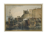 Chester Castle, C. 1805 (Watercolour over Graphite, with Pen and Ink and Scratching Out) Giclee Print by Joseph Mallord William Turner