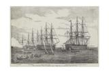 Part of the Baltic Fleet Off Cronstadt Giclee Print by John Wilson Carmichael