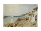 Rietz, Near Saumur, C. 1830 (Watercolour and Bodycolour over Graphite with Pen and Brown Ink) Giclee Print by Joseph Mallord William Turner