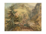 The Chevin, Otley, C.1818 Giclee Print by Joseph Mallord William Turner