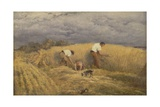 A Finished Study for 'Reaping', 1858 Giclee Print by John Linnell