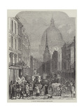 A London Thoroughfare, Fleet-Street Giclee Print by John Wykeham Archer