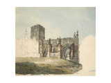 The Ruined Abbey at Haddington, C. 1794 (Watercolour over Graphite on Wove Paper) Giclee Print by Joseph Mallord William Turner
