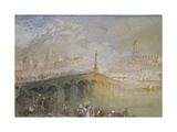 The Bridge at Blois: Fog Clearing Giclee Print by Joseph Mallord William Turner