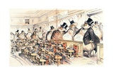 The Bosses of the Senate from the American Magazine 'Puck', January 23rd 1889 Giclee Print by Joseph Keppler