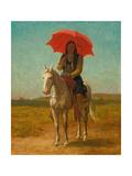 Horseman, Anadarko, Oklahoma, 1890 Giclee Print by Julian Scott