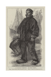 A Zandvoort Fisherman Giclee Print by Jozef Israels